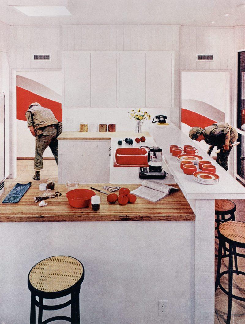 martha rosler red stripe kitchen pma international pop