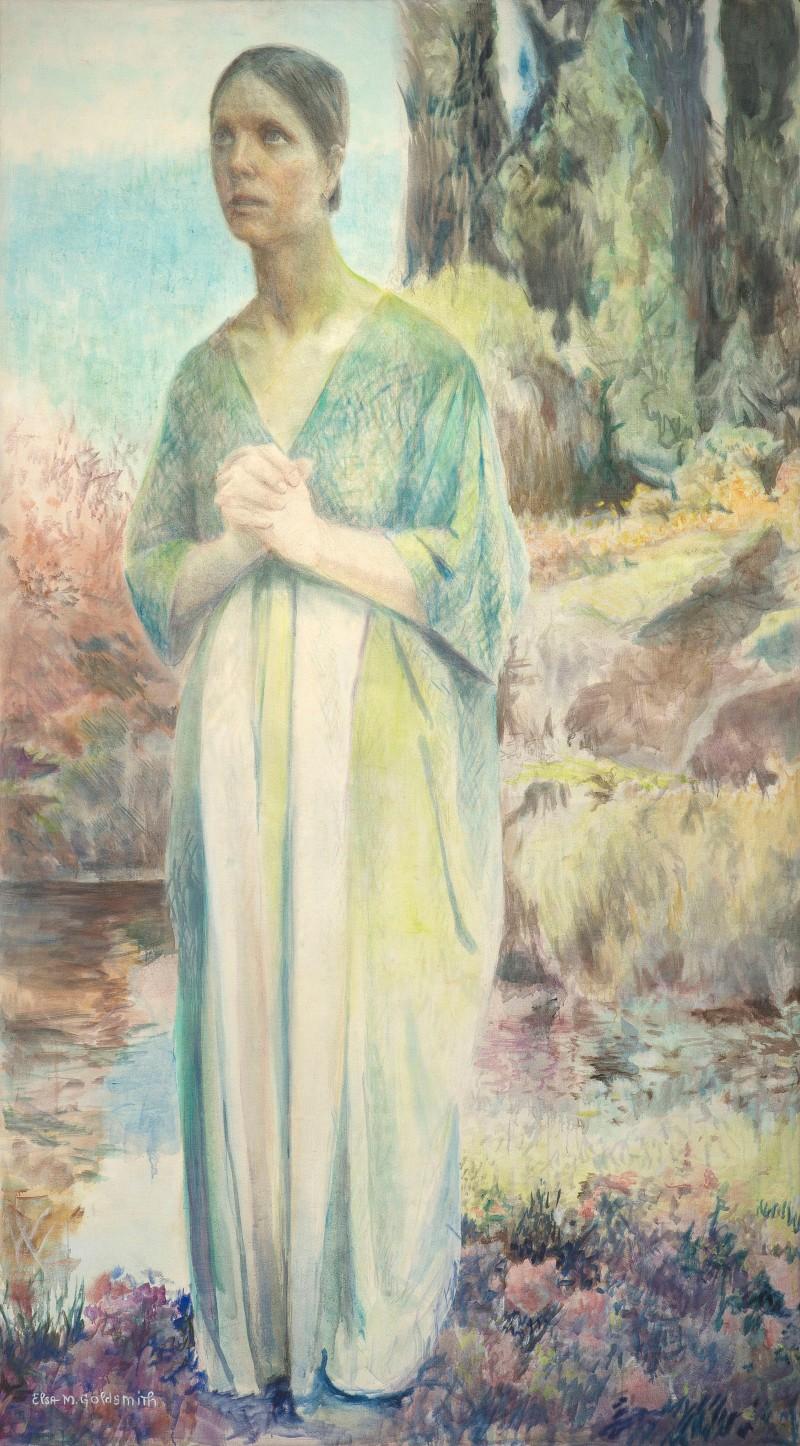 elsa m goldsmith joan of arc painting the sister chapel