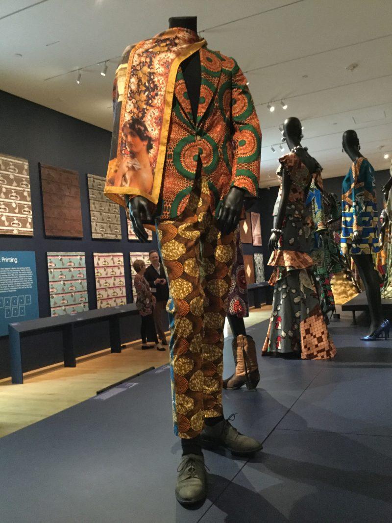 Fashion display at museum