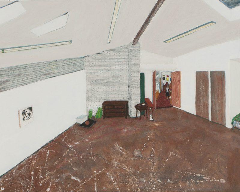 small studio painting sarah mceneaney