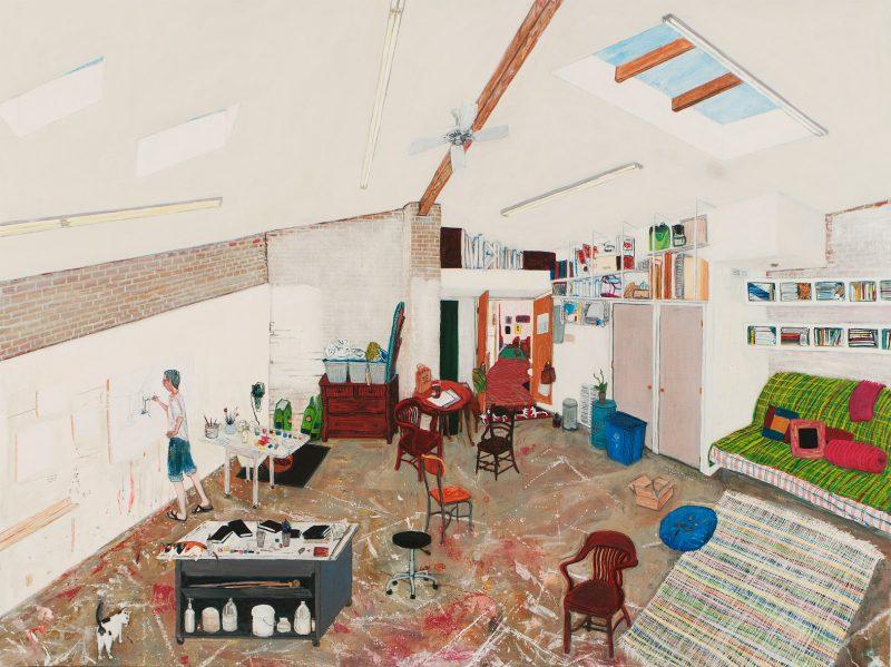 studio painting sarah mceneaney