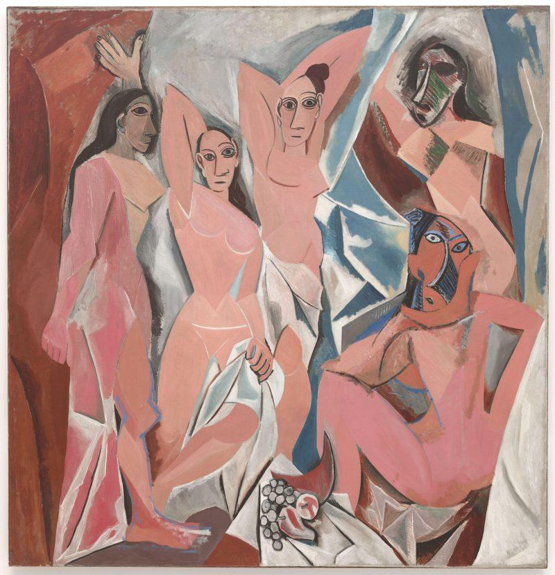 """Pablo Picasso, """"Les Demoiselles d'Avignon,"""" 1907. Oil on canvas, 8' x 7' 8"""""""