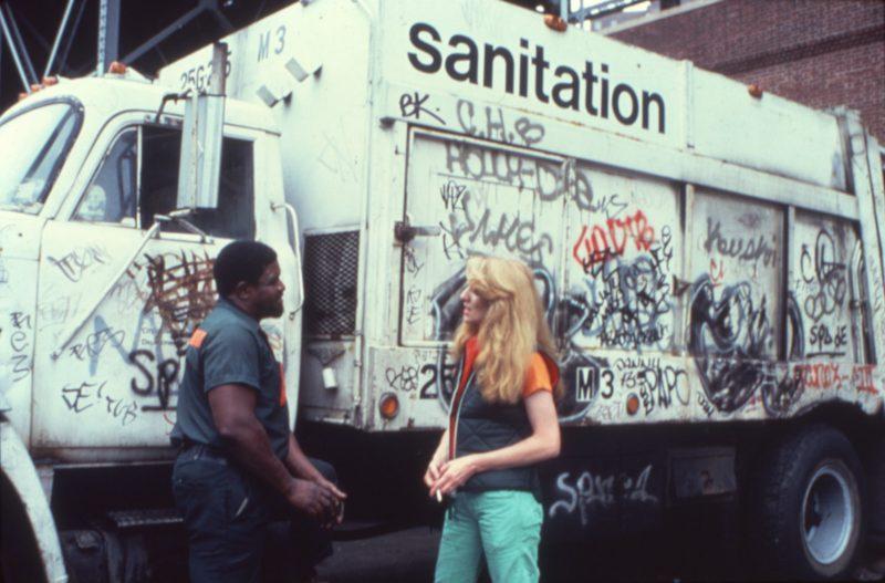 Mierle Laderman Ukeles, Touch Sanitation Performance, 1977.
