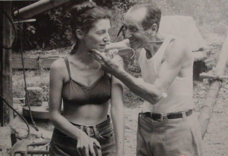 José de Creeft and Lorrie Goulet at Black Mountain College.