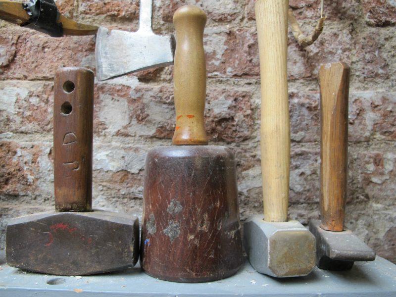 José de Creeft's stone carving tools.