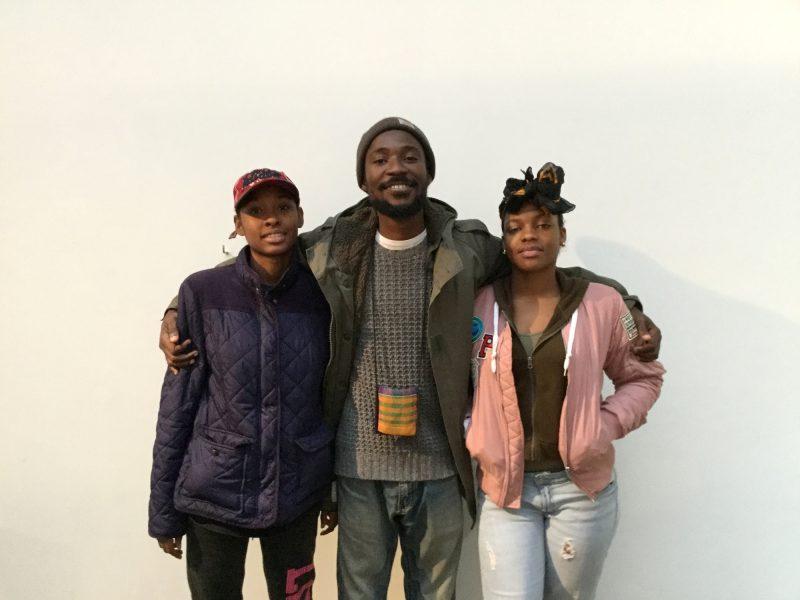 Kwasi Ohene-Ayeh (center), Tamia Garcia (left) and Tiyanna Scott (right)