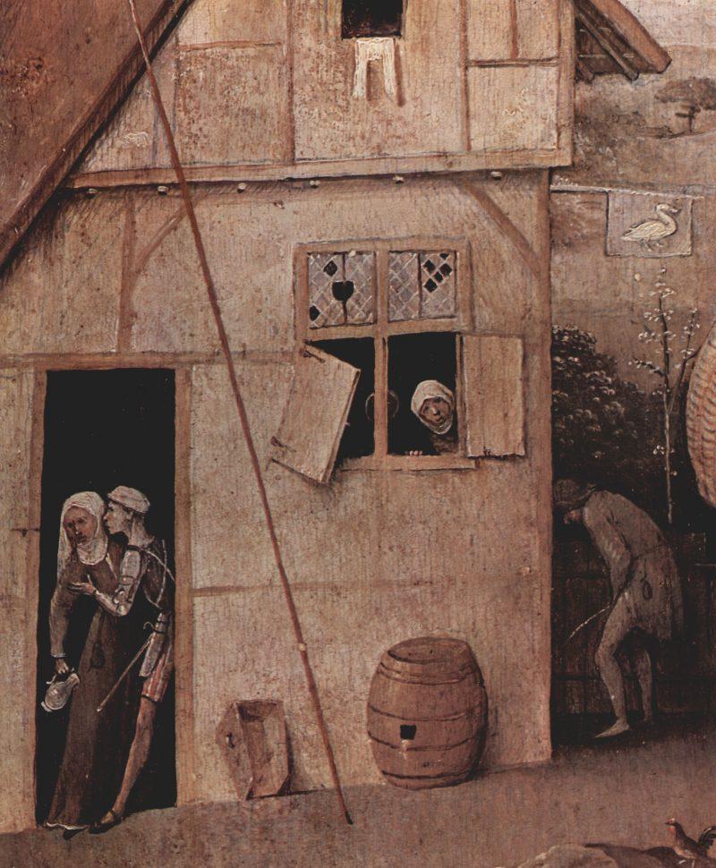 "Hieronymous Bosch detail of ""The Wayfarer"""