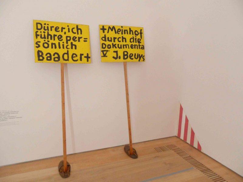 """Painting 2.0"" at Museum Brandhorst, works by Joseph Beuys, Daniel Buren (detail), image http://www.kunst-tour.de/blog"