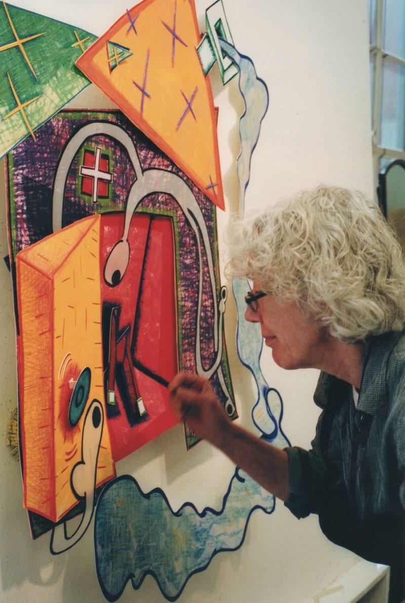 Artist Elizabeth Murray, subject of Kristi Zea's EVERYBODY KNOWS…ELIZABETH MURRAY, playing with Alison Klayman's documentary short THE 100 YEARS SHOW at Film Forum, January 11 – 17. Photo by Sidney Felsen. Courtesy of Taskovski Films.