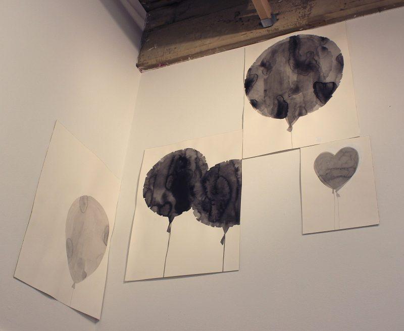 """Christine Buckton Tillman, """"Gloomy Balloons."""""""
