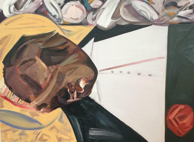 Dana Schutz, Open Casket painting