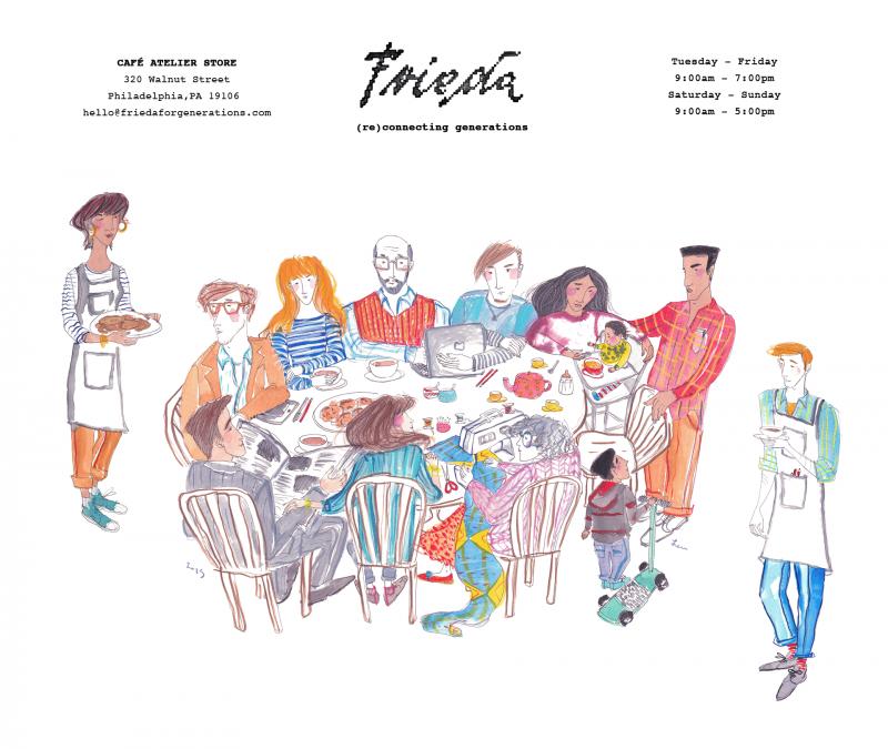 Frieda Cafe drawing