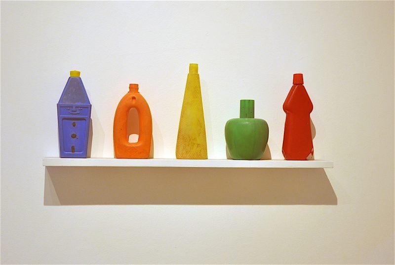 Tony Cragg, 5 Bottles on a Shelf