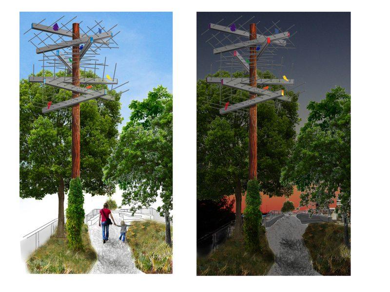 """Rendering of the proposed artwork """"Dawn Chorus,"""""""