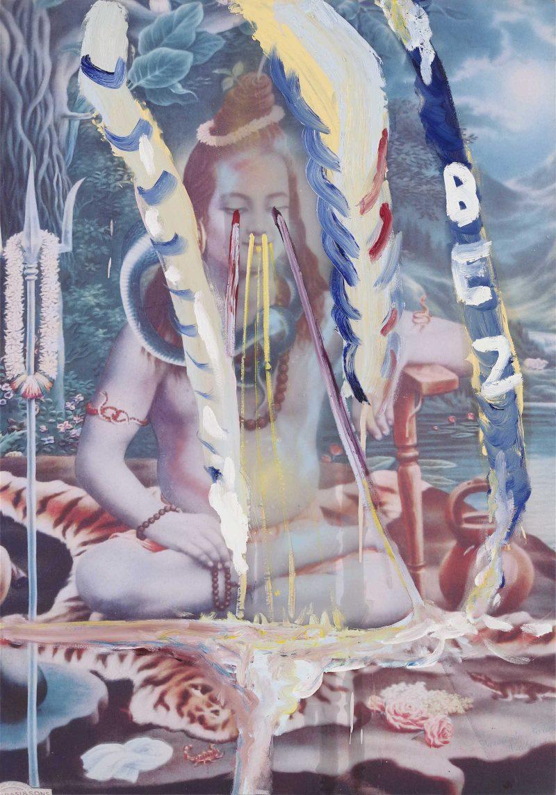 JulianSchnabel painting Galerie Daniel Templon Paris