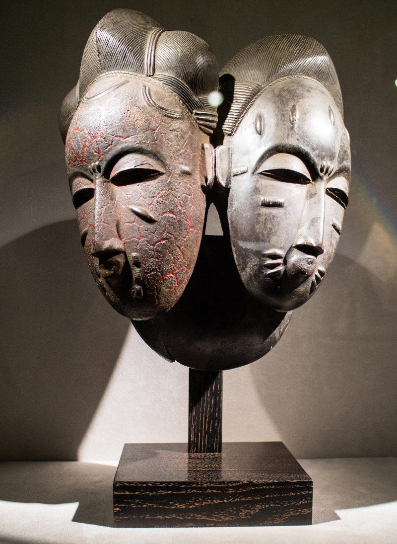 Nda (twin) mask from Ivory Coast