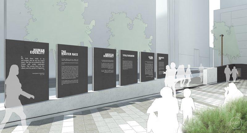 Rendering of the Philadelphia Holocaust Memorial Park, provided by Fairmount Ventures
