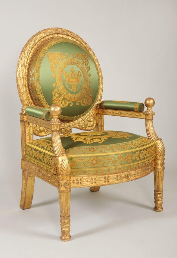 Ballangé throne, image courtesy Isabelle Bideau / Mobilier national.