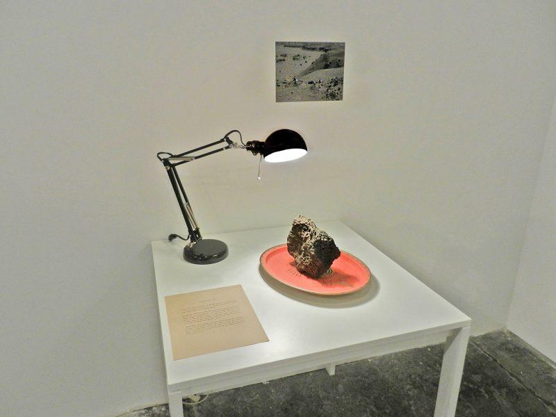 Pablo Rivera, The Ideal Stone (Lava Flaneur), found rock, photographs, Instructions