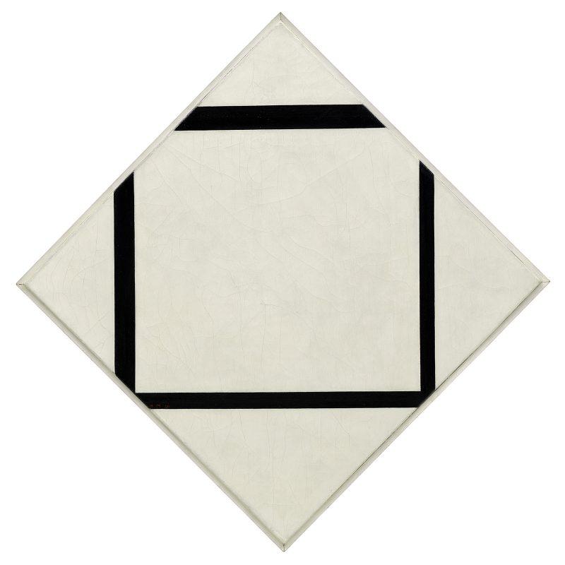 Piet Mondrian, Composition No. 1 Lozenge with Four Lines Guggenheim