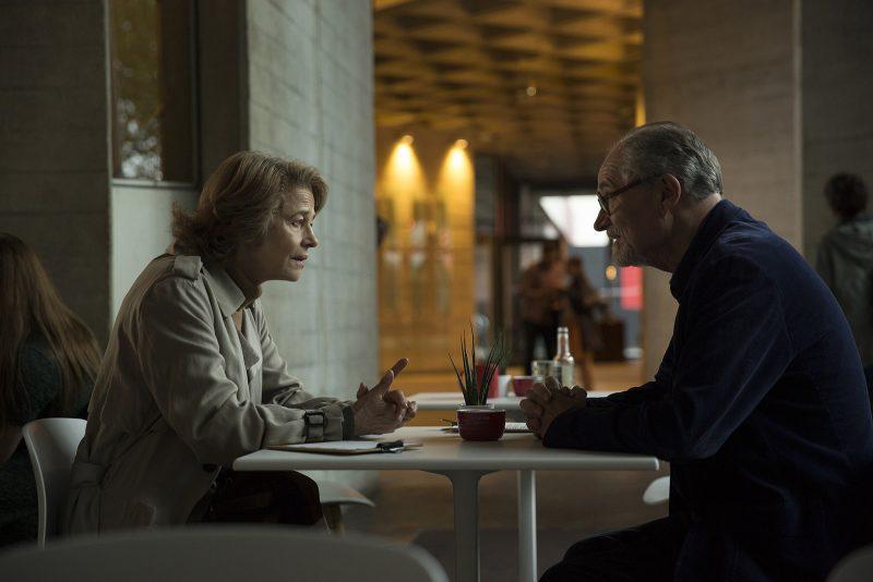 "Charlotte Rampling and Jim Broadbent, ""Sense of an Ending,"" film by Ritesh Batra."""