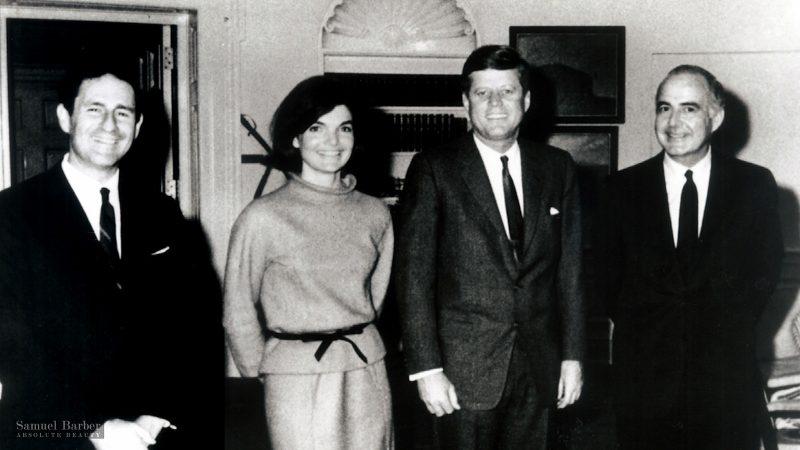 Gian Carlo Menotti, Jacqueline Kennedy, John F. Kennedy, and Samuel Barber