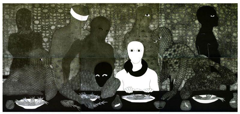 Belkis Ayón, La cena, El Museo del Barrio.