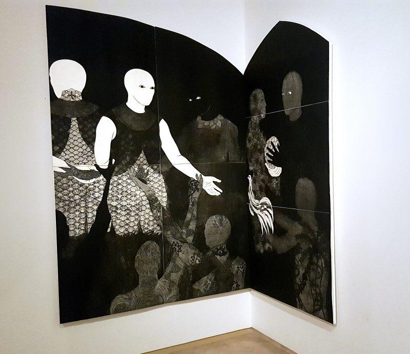 """""""Perfidia,"""" Belkis Ayón's, 1998, El Museo del Barrio."""