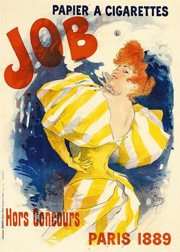 Jules Cheret, JOB cigarette poster, 1895.