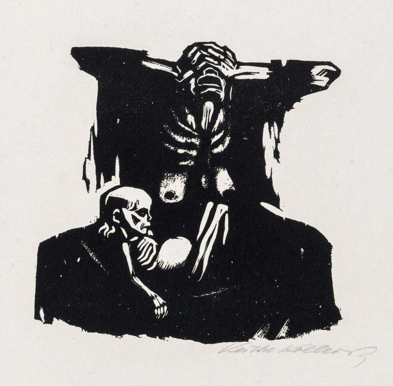 "Käthe Kollwitz, ""Hunger"", 1922, woodcut. Image courtesy of Galerie St. Etienne."