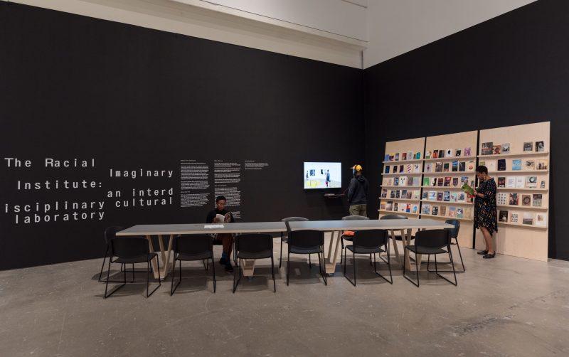 """Speech/Acts,"" 2017, installation view, Institute of Contemporary Art, University of Pennsylvania. Photo: Constance Mensh"