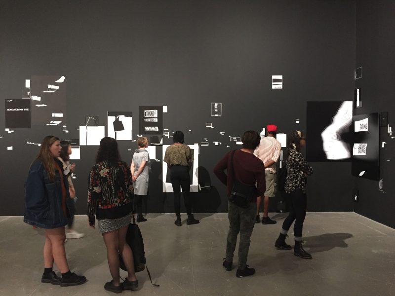 """Speech/Acts,"" 2017, Kameelah Rasheed installation view, Institute of Contemporary Art, University of Pennsylvania. Photo: Imani Roach."