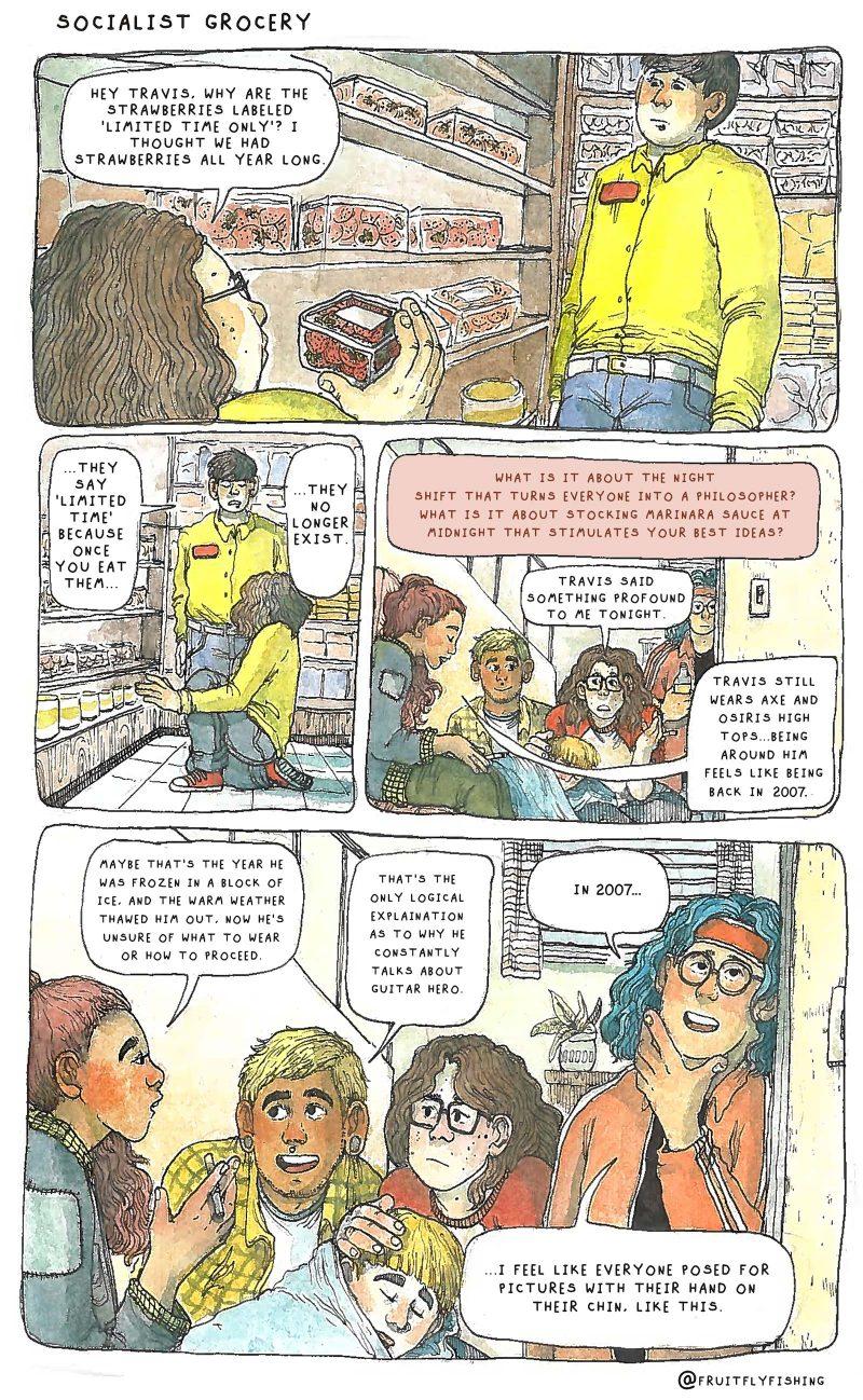 Oli Knowles comic, Socialist Grocery