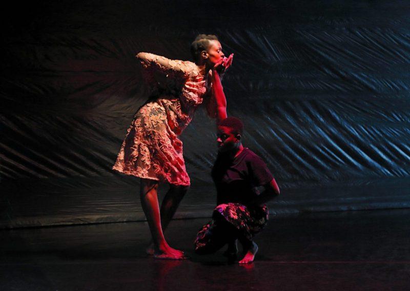 """Okwui Okpokwasili and Katrina Reid in """"Poor People's TV Room."""""""