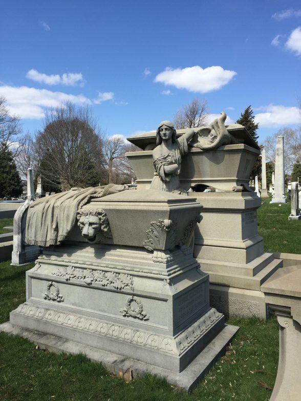 Elaborate and slightly disturbing Victorian monument.