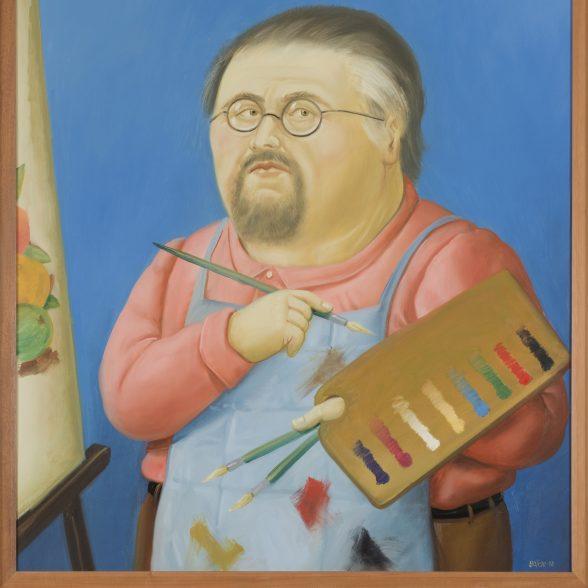 Botero self portrait.