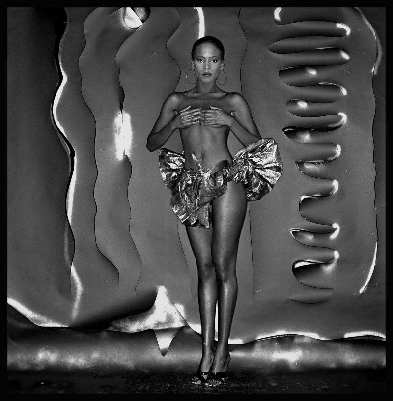 "Toukie Smith, model (1980), Anthony Barboza, giclée print, 13"" x 12.75""; image courtesy of the Stanek Gallery."