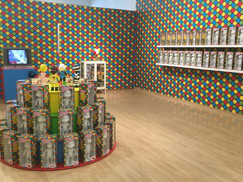 "Trenton Doyle Hancock, ""Moundverse Infants,"" Installation, 2018. Photo courtesy of Temple Contemporary."