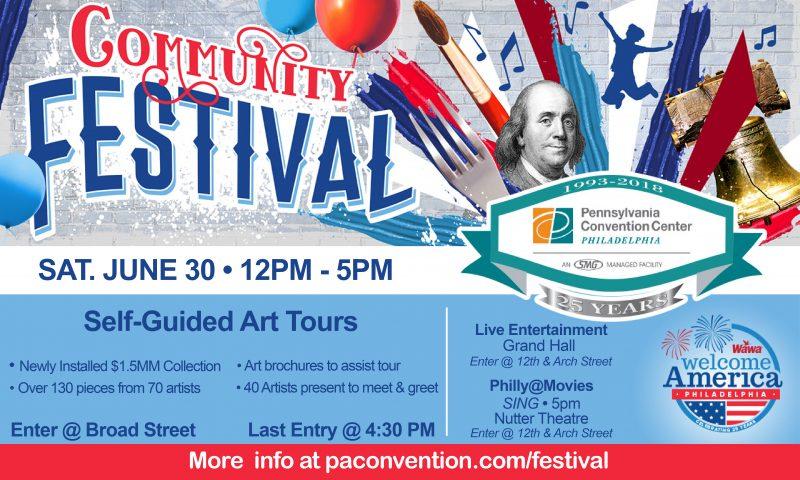 Poster for Pennsylvania Convention Center Public Festival, June 30, 2018