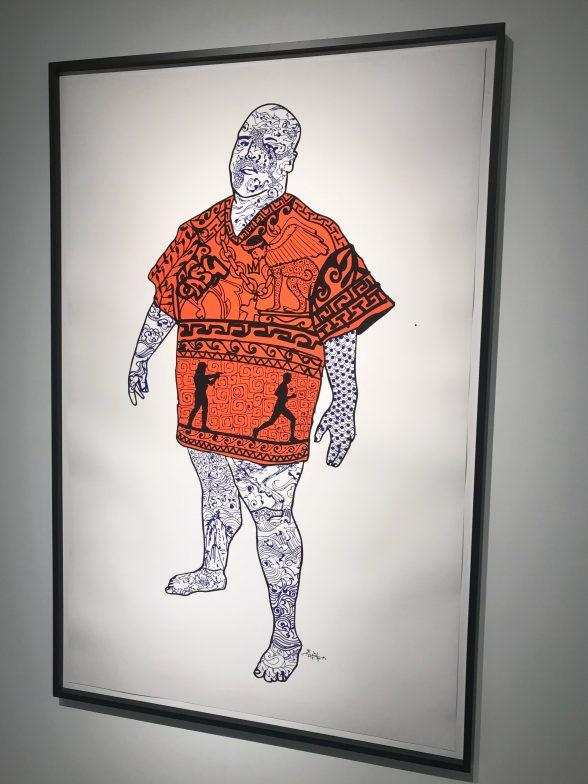 "Roberto Lugo, ""New Slaves,"" 2017, Digital print on paper, 60 × 40 in; 152.4 × 101.6 cm."