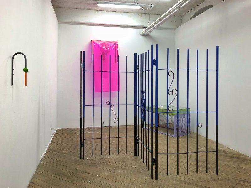 "Exhibition view of ""Face Tan/Night Swim, Abigail Lucien, Vox Populi."""
