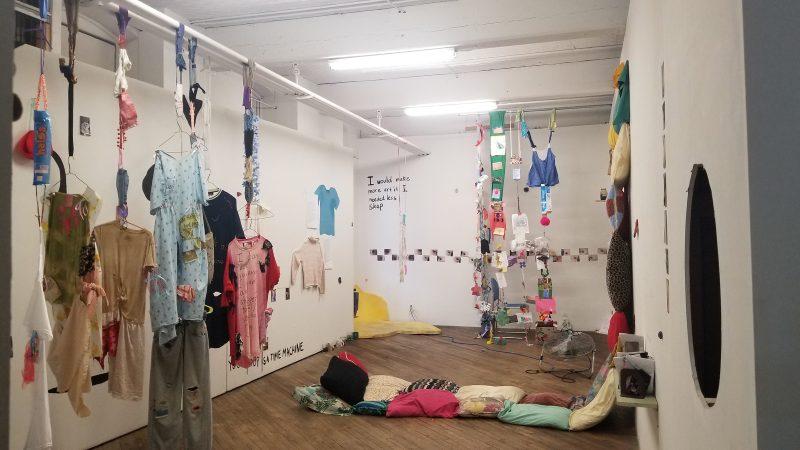 "Lane Speidel, Installation view, ""Don't Miss Me,"" Vox Populi, 2018."