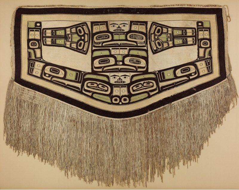 "Tlingit artist ""Chilkat blanket"" Before 1832 Peabody Essex Museum, Salem, Massachusetts Gift of Captain Robert Bennet Forbes, 1832 © 2010 Peabody Essex Museum, Salem, MA Photography by Walter Silver"
