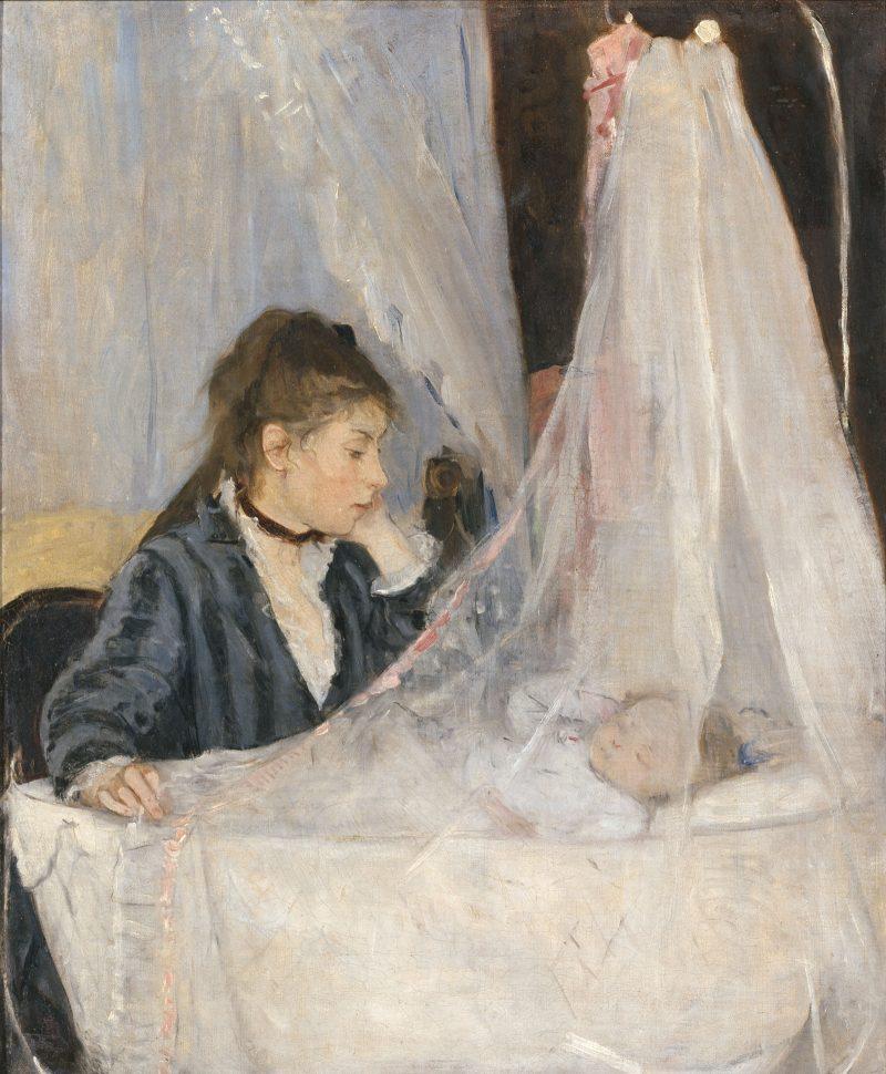 Berthe Morisot. The Cradle, 1872. Oil on canvas. Musée d'Orsay, Paris, RF 2849. © Musée d'Orsay, Dist. RMN-Grand Palais / Patrice Schmidt.