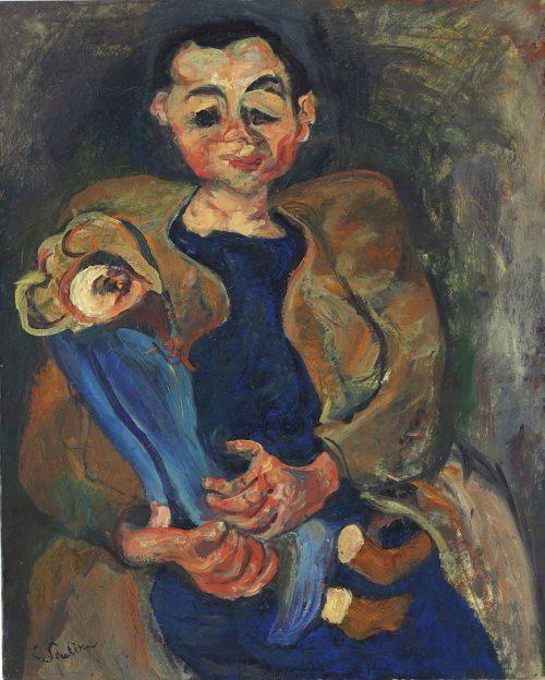 ''Femme à la poupée'' by Chaim Soutine, 1923-1924, oil on canvas, 31 7/8 x 25 5/8 in. Photo courtesy of Christie's