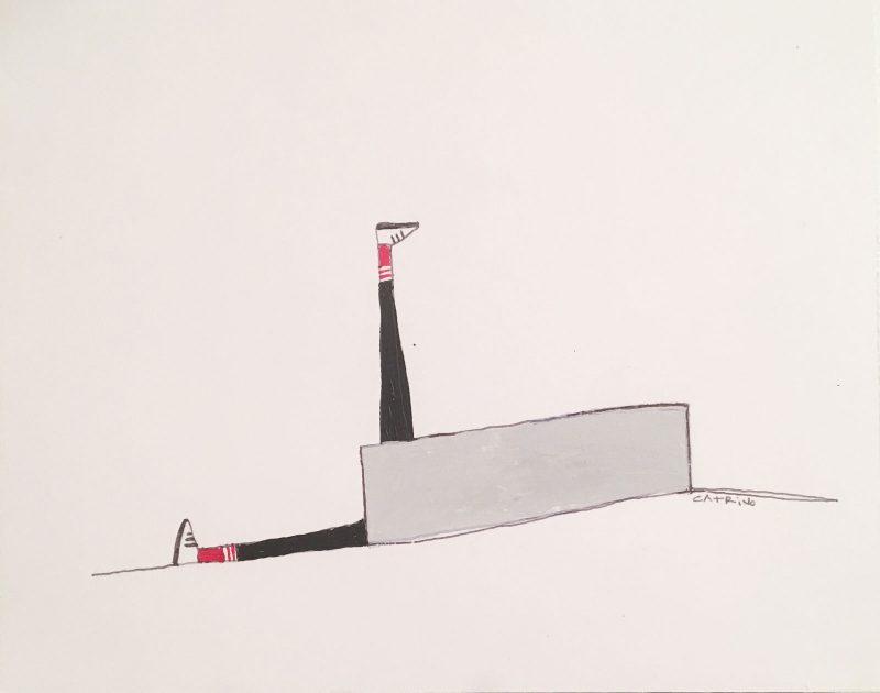 """""""SUNDAY 5/27/18"""", Matt Catrino, Acrylic on Board, 8"""" x 10"""", 2018, Photo courtesy of High 5 Gallery"""