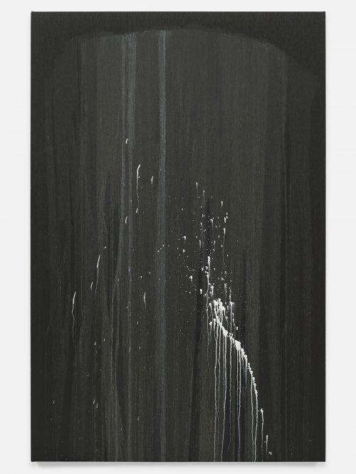Pat Steir, The Barnes Series I, 2018. Oil on canvas. 86 3/8 x 56 3/8 inches. © Pat Steir.