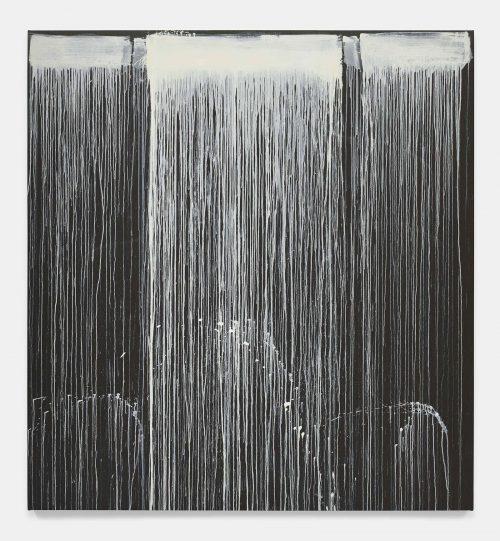 Pat Steir, The Barnes Series IV, 2018. Oil on canvas. 86 3/8 x 80 1/8 inches. © Pat Steir.