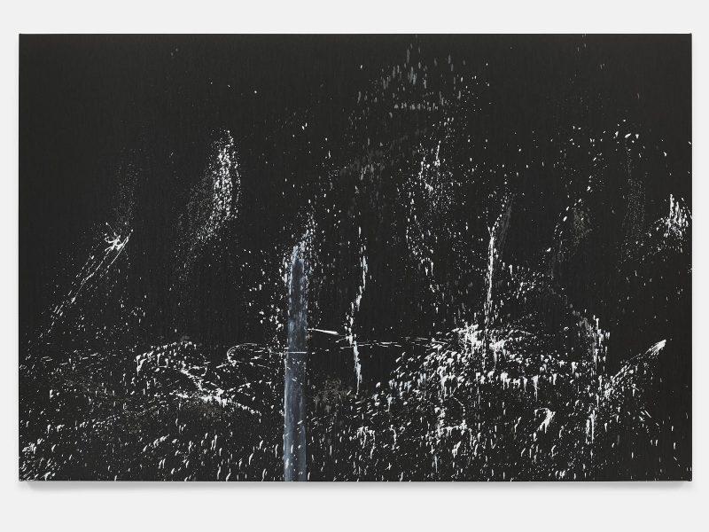Pat Steir, The Barnes Series V, 2018. Oil on canvas. 86 3/8 x 130 1/4 inches. © Pat Steir.