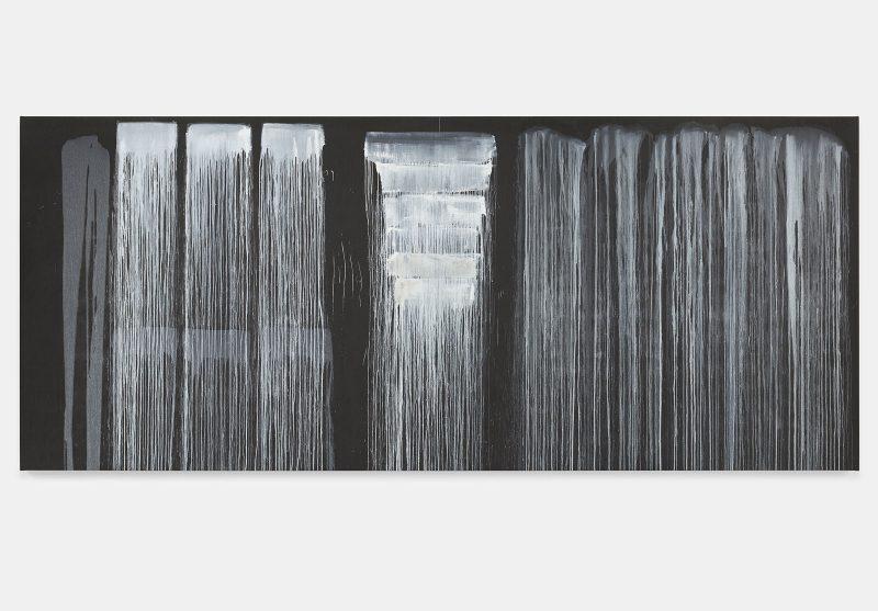 Pat Steir, The Barnes Series VI, 2018. Oil on canvas. 86 3/8 x 205 inches. © Pat Steir.